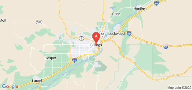 map of Billings, United States of America