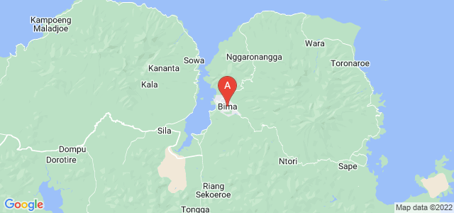 map of Bima, Indonesia