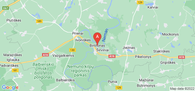 map of Birštonas, Lithuania