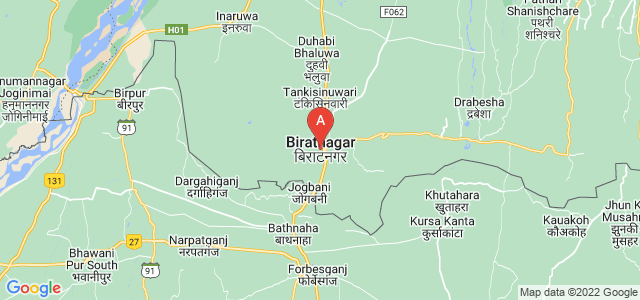 map of Biratnagar, Nepal