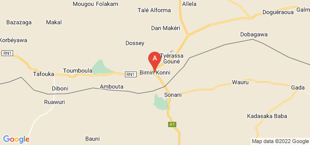map of Birni Nkonni, Niger