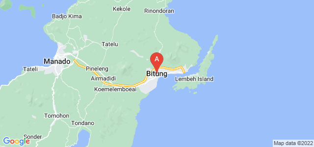 map of Bitung, Indonesia
