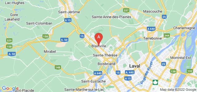 map of Blainville, Canada