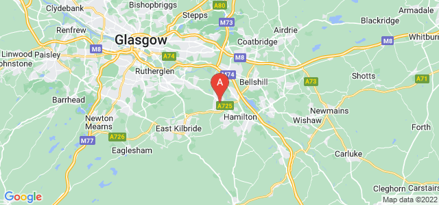 map of Blantyre, United Kingdom