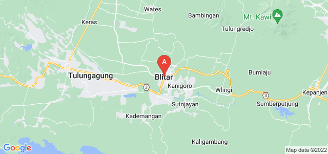 map of Blitar, Indonesia