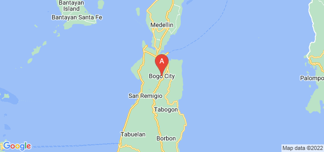 map of Bogo, Philippines