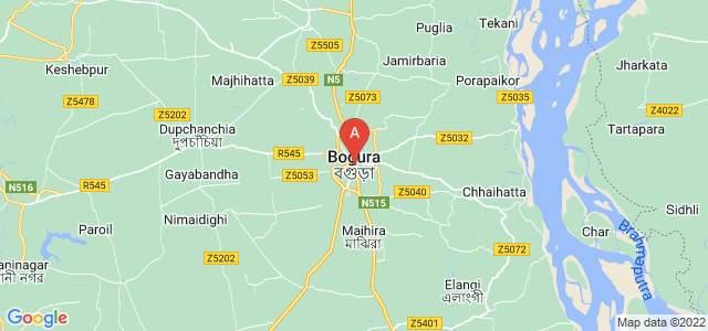 map of Bogra, Bangladesh