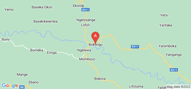 map of Bokungu, Democratic Republic of the Congo