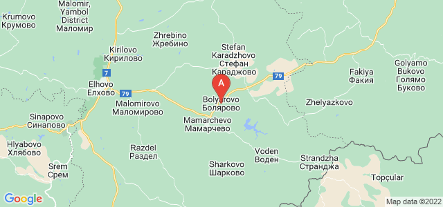 map of Bolyarovo, Bulgaria
