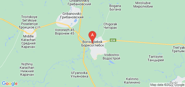 map of Borisoglebsk, Russia