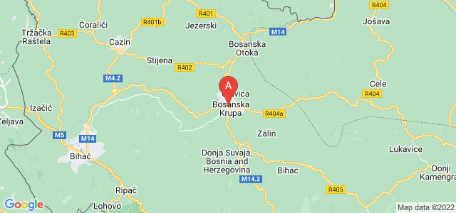 map of Bosanska Krupa, Bosnia and Herzegovina