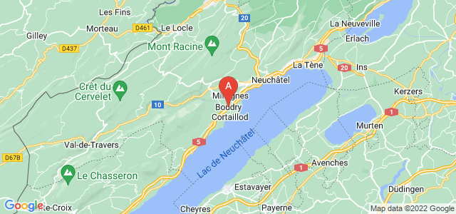 map of Boudry, Switzerland