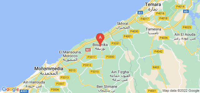 map of Bouznika, Morocco