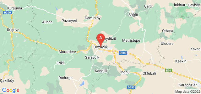 map of Bozüyük, Turkey
