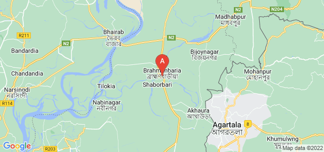 map of Brahmanbaria, Bangladesh
