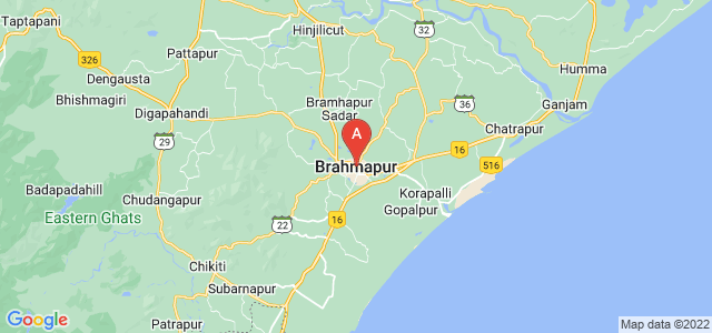 map of Brahmapur, India