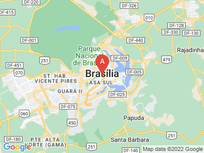 map of Brasília, Brazil