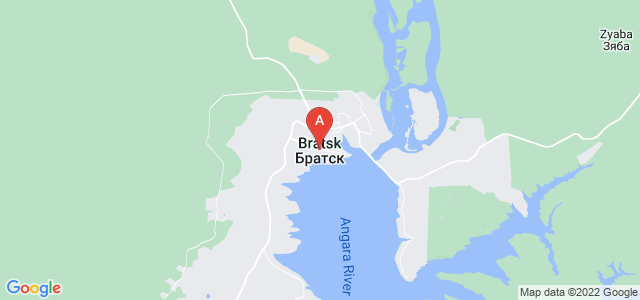 map of Bratsk, Russia