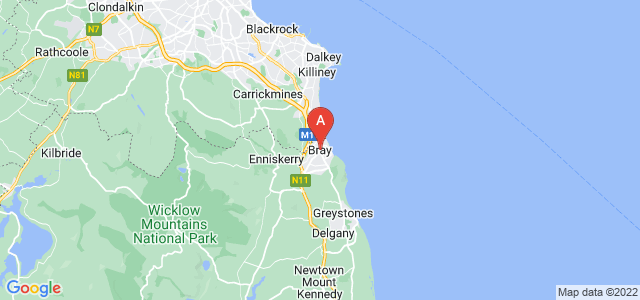 map of Bray, Republic of Ireland