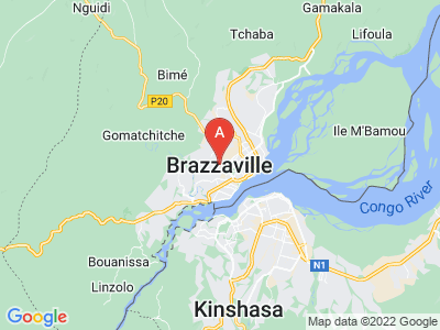map of Brazzaville, Republic of the Congo
