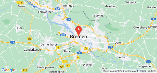 map of Bremen, Germany