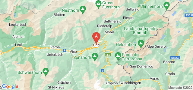 map of Brig, Switzerland