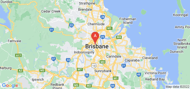 map of Brisbane, Australia