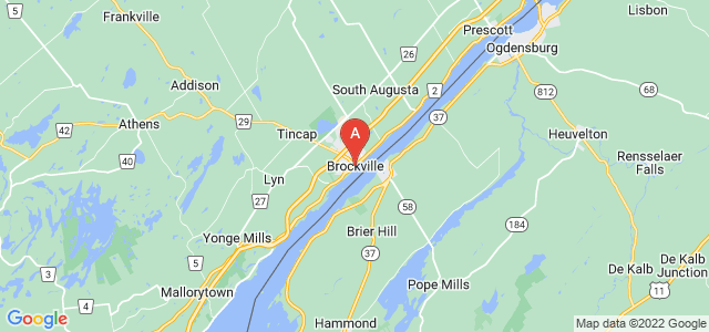 map of Brockville, Canada