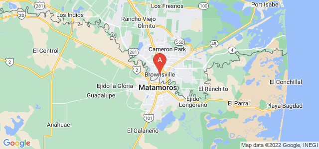 map of Brownsville, United States of America