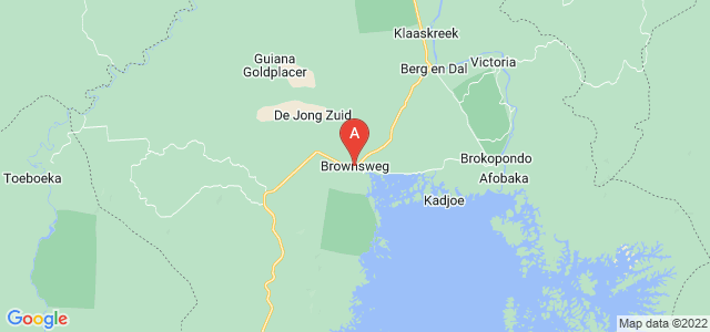 map of Brownsweg, Suriname
