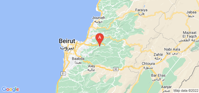 map of Brummana, Lebanon
