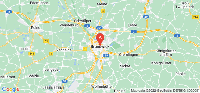 map of Brunswick, Germany
