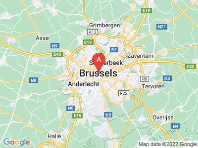 map of Brussels, Belgium