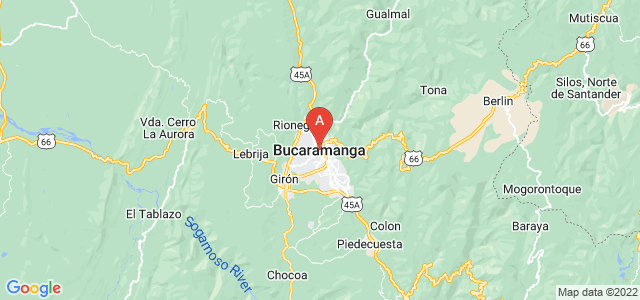 map of Bucaramanga, Colombia