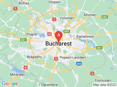 map of Bucharest, Romania