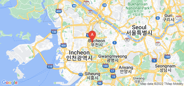 map of Bucheon, South Korea