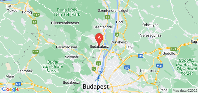 map of Budakalász, Hungary