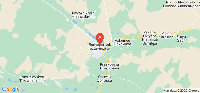 map of Budyonnovsk, Russia