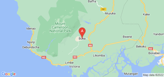 map of Buea, Cameroon