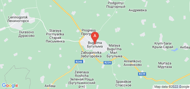 map of Bugulma, Russia