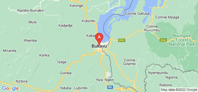 map of Bukavu, Democratic Republic of the Congo