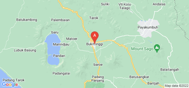 map of Bukittinggi, Indonesia