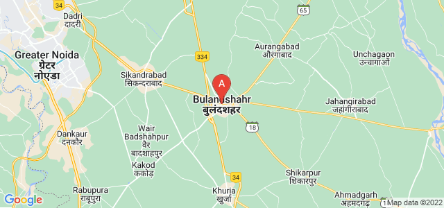 map of Bulandshahr, India