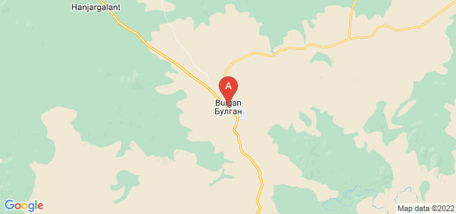 map of Bulgan, Mongolia