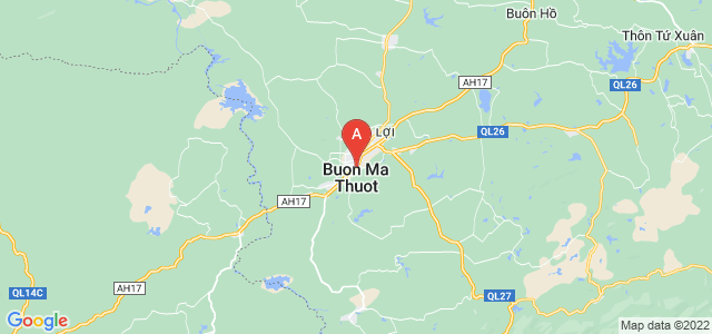 map of Buon Ma Thuot, Vietnam