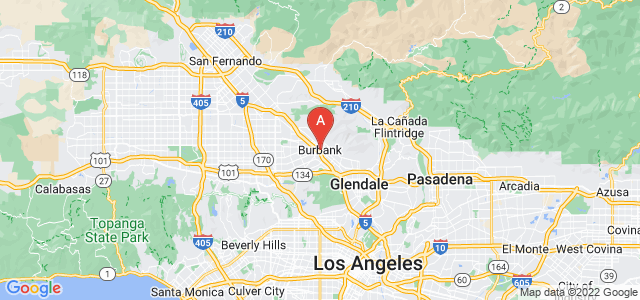 map of Burbank, United States of America