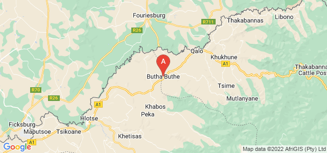 map of Butha-Buthe, Lesotho