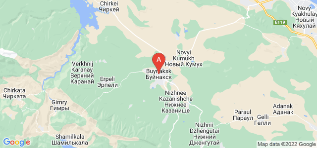 map of Buynaksk, Russia