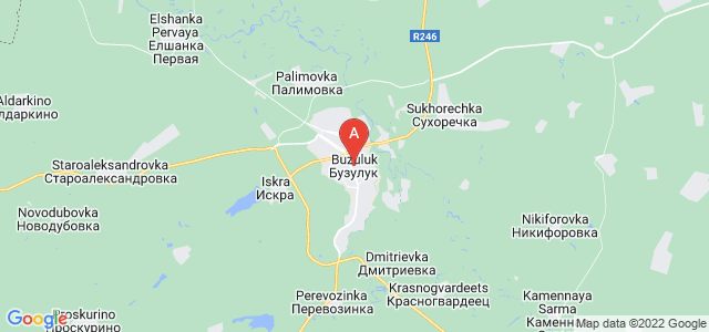 map of Buzuluk, Russia
