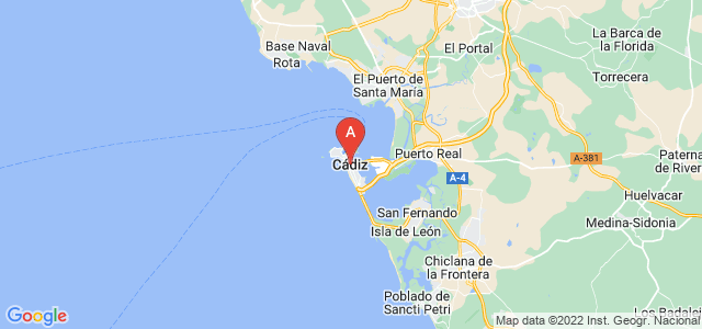 map of Cádiz, Spain